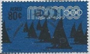 Mexico C335 (used) 80c Olympics, sailing (1968)