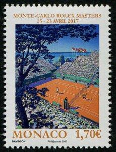 HERRICKSTAMP NEW ISSUES MONACO Sc.# 2867 Rolex Tennis Masters