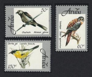 Aruba Mockingbird Kestrel Bananaquit Birds 3v SG#225=228
