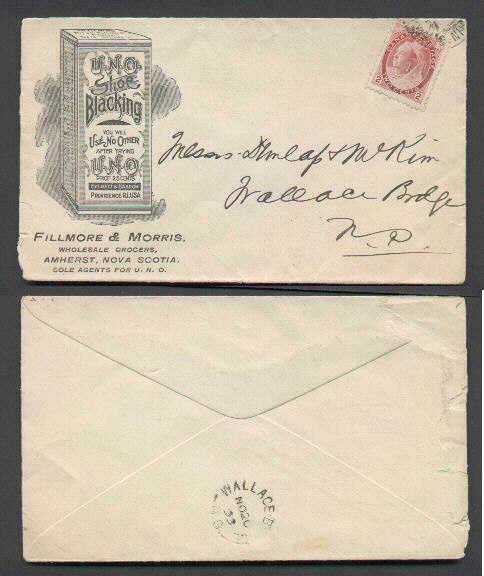 Canada #3341 -  2c Numeral- partial St. John & Amherst RP