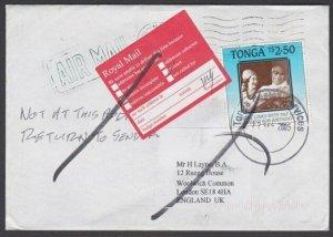 TONGA 2005 cover to UK -  Returned to Sender................................Q469