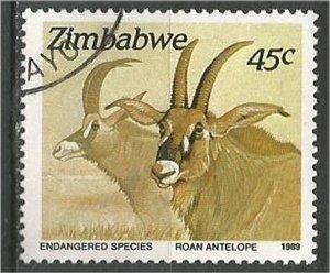 ZIMBABWE, 1989, used 45c Roan antelope Scott 599