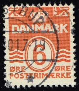 Denmark #224C Numeral; Used (2Stars)