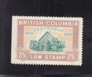 Canada: British Columbia: Law Tax Stamp, Van Damme #BCL47, Used (37025)