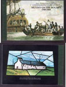 Isle of Man-Sc#394-unused NH complete booklet-Ships-Mutiny o