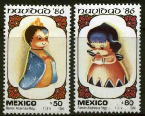 MEXICO 1462-1463 Christmas Season 1986. MNH