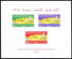 Yemen Sc# 124-126 MNH Souvenir Sheet (imperf) 1961 Hodeida-San'a Road