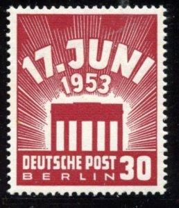 Berlin # 9N100. Mint Hinge. CV $ 9.00