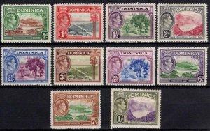 1938-47 Dominica George VI Definitives Partial Set