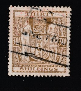 New Zealand a postally used 30/- Arms  single watermark