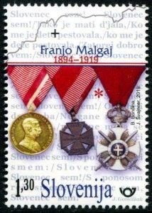 HERRICKSTAMP NEW ISSUES SLOVENIA Sc.# 1327 Franjo Malgaj