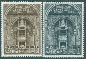 VATICAN Scott 273-4 MNH** 1960 Roman Diocesan Synod set