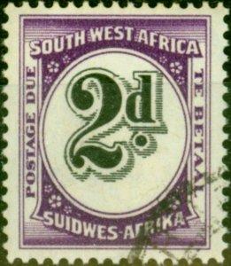 South West Africa 1959 2d Black & Reddish Violet SGD53 V.F.U
