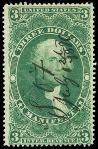 momen: US Stamps #R86c Revenue Manuscript Used VF