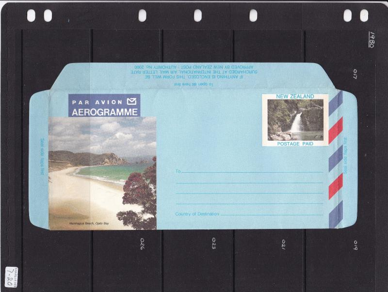 New Zealand Aerogramme Postage Paid Opito Bay Unused VGC
