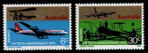 AUSTRALIA Scott 491-492 MNH**Quantis Airline set