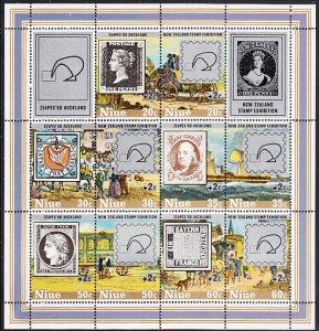 Niue 1980 MH Sc #B41 Sheet of 10 ZEAPEX 80