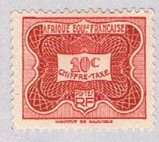 French Equatorial Africa J12 MLH Numeral 1947 (BP38132)