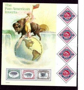 U.S. 3505 MNH 2001 Pan America Inverts Sheet