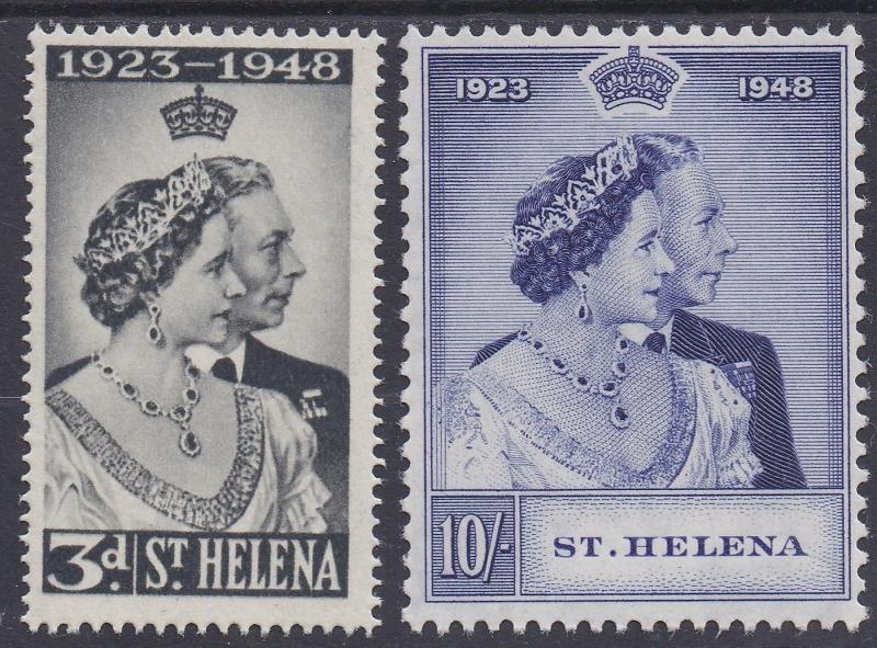 ST HELENA 1948 KGVI SILVER WEDDING SET MNH **
