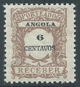 Angola, Sc #J26, 6c MH