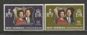 New Hebrides, Br.   #169-70  MLH  (1972)  c.v. $0.50