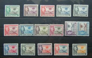Gambia 1938 - 46 set to 10s MM (some gum imperfections see photo)