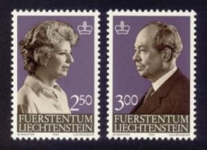 Liechtenstein Sc# 767-8 MNH Gina & Franz Joseph II