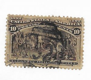 USA #237 Perf Stains Used - Stamp - CAT VALUE $9.00