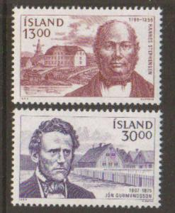 Iceland #613-4 MNH