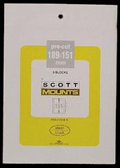Scott Mounts Clear,189/151mm  (pkg 5) 00990C