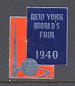 USA New York World's Fair 1939/40 Cinderella Smaller Trylon & Perisphere 1940