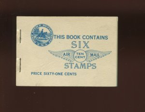 Scott BKC1 C10a Lindbergh Air Mail Mint Complete Booklet of 2 Panes NH (BK C1-2)
