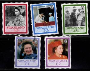 Swaziland Scott 490-494 MH* QE2 birthday set