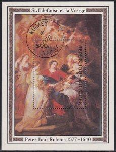 Niger 1978 Sc 431 Artist Peter Paul Rubens 400 Birth Anniversary Stamp SS CTO NH