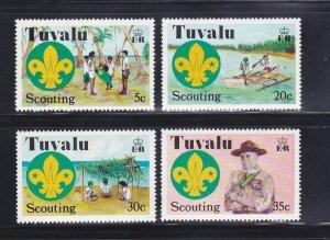 Tuvalu 50-53 Set MNH Scouts (E)