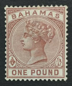 MOMEN: BAHAMAS SG #57 CROWN CA MINT OG H LOT #192430-1091