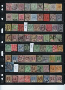 STRAITS SETTLEMENTS COLLECTION: 138 STAMPS-34 MINT- ALL OTHERS USED-SOME BOB