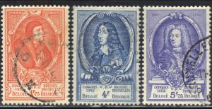 BELGIUM SC# 436+440+442 USED 1952   SEE SCAN