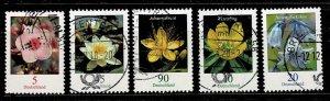 Michel# 3276, 3303-4, 3314-5  Flowers used