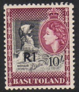Basutoland #71a mint single, Type I overprint
