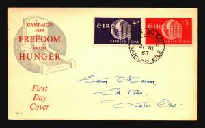 Ireland 1963 Freedom of Hunger Series FDC - Z16938