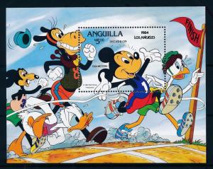 [55686] Anguilla 1984 Olympic games Disney Athletics Decathlon MNH Sheet