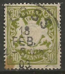 GERMANY BAVARIA 67 VFU E849-1