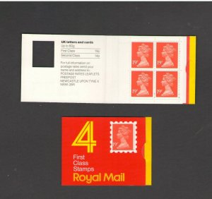 GB: Sc. BK348 /** 76 PENNY-QE II DECIMAL ** / Folded Window Booklet /MNH