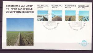 Z278 JLstamps 1981 netherlands fdc cover #b569-72 designs