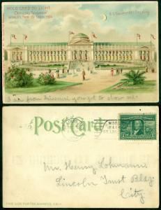 HOLD CARD TO LIGHT POSTCARD-ST LOUIS 1904 BL8462