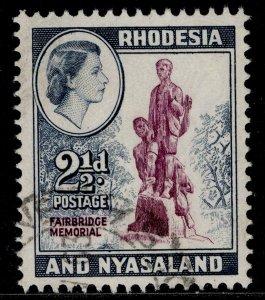 RHODESIA & NYASALAND QEII SG21, 2½d purple & grey-blue, FINE USED.