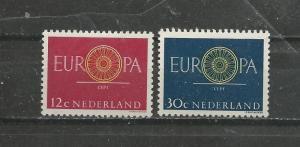 Netherlands Scott catalogue #385-386 Unused Hinged