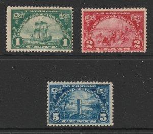 USA the 1924 Huguenot set MNH
